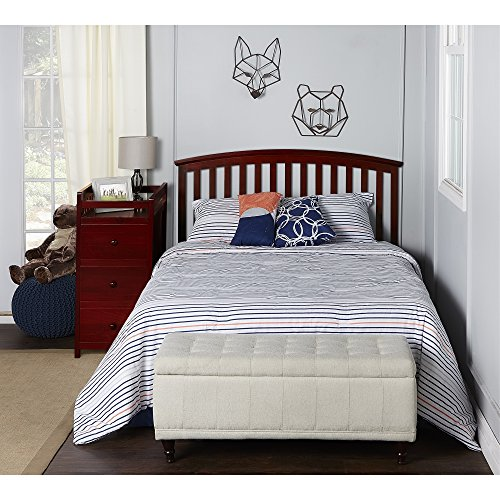 Dream On Me Niko 5-in-1 Convertible Crib with Changer, Cherry by Dream On Me (Image #5)