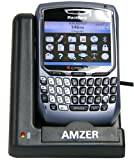 Amzer 5012 Desktop Cradle with Extra Battery Charging Slot for BlackBerry 8700 (Black)
