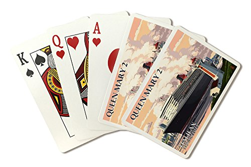 Halifax, Nova Scotia - Queen Mary 2 (Playing Card Deck - 52 Card Poker Size with Jokers)