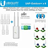 Ubiquiti UAP-Outdoor+ 6-pack UniFi AP Outdoor+ 2.4GHz PoE 802.11n 300Mbps 600ft