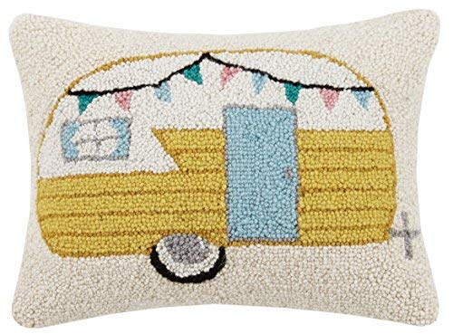 Peking Handicraft Vintage Camper Hook Pillow Multicolored [並行輸入品] B07R83JDC2
