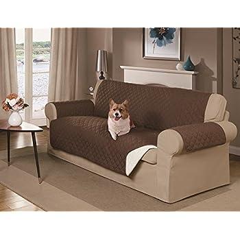 Amazon Com Mason Reversible Sofa Cover Brown Pet Supplies