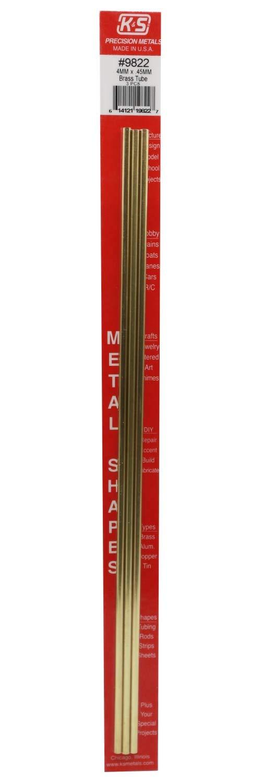 4 mm x .45 mm 3 Round Brass Tube