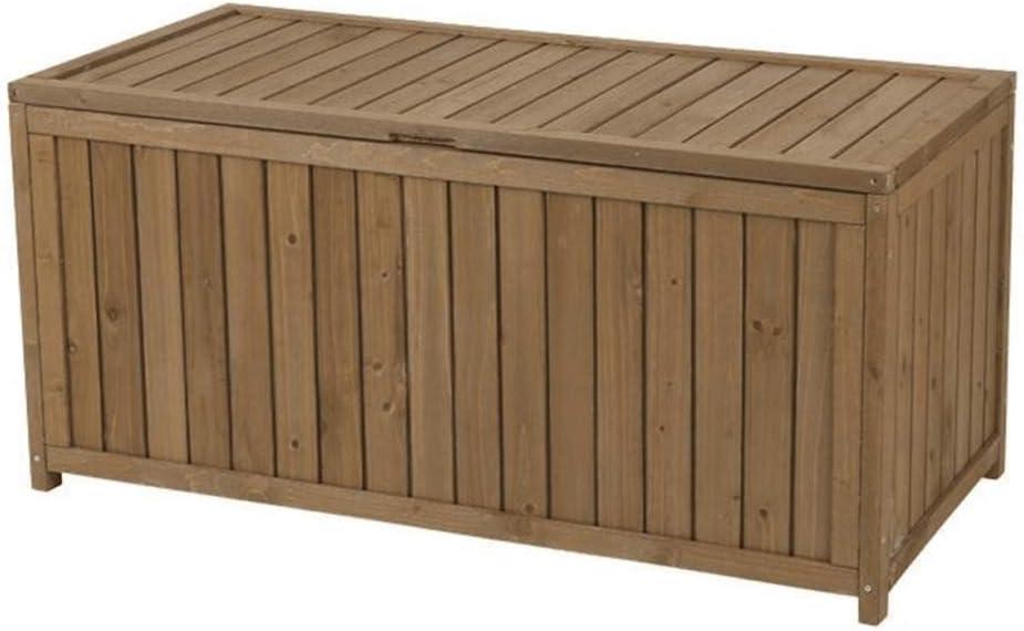 woyaochudan Bike Storage Box Plastic Bin Shed Garden Outdoor Large Wooden Tool Storage Box/Garden Storage Bin