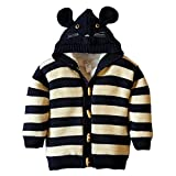 Product review for LLQ Christmas Girl Clothes Hoodie Sweater Baby Boy Cardigan Winter Jacket Kid Coat Knit Top