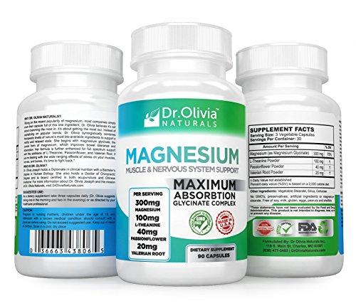 Olivia Naturals Magnesium L Theanine Passionflower