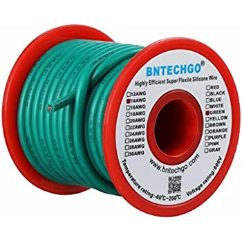 Amazon Com Bntechgo 12 Gauge Silicone Wire Spool Green 25