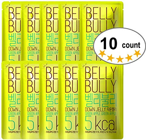 10 Count, Belly Bully Down Jelly-Dietary Supplement for Weight Loss, Appetite Suppresants (Green Apple, 10 Count)