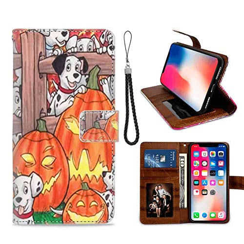 Happy Halloween Wallet Case Fits for iPhone Xs (2018) or iPhone X (2017) or iPhone 10 (2017) [5.8in] Wrist Lanyard]()