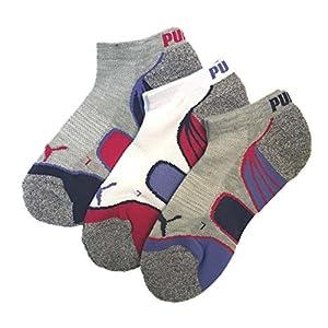 Puma - Women's Low Cut Premium Socks, Pack of 3 Pairs (Light Pastel Grey)