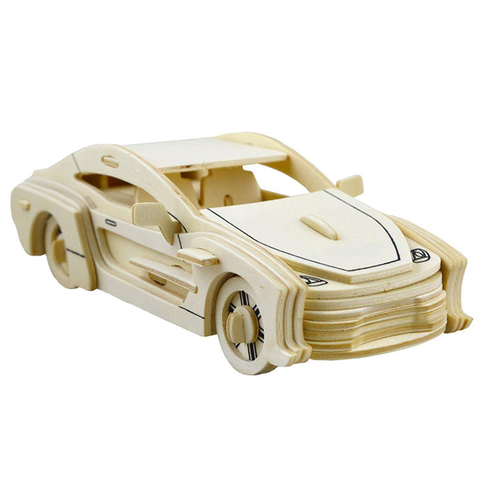 MoGist 3D Puzzle Wooden Jigsaws Car Model Woodcraft Construction Kit DIY Creative Gift Educational Toys For Kids, Teens and Adults