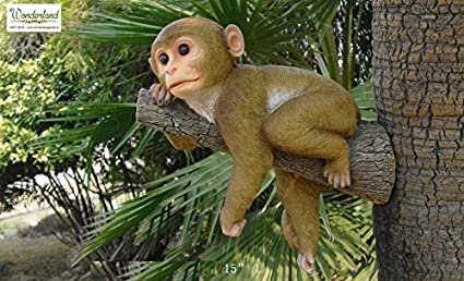 Wonderland Monkey Hanging From Tree For Garden , Tree , Balcony, Home Decor  , Gift