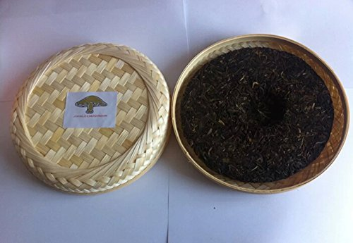 Pu erh black tea, Premium grade fermented 714 grams tea cake bamboo box packing by JOHNLEEMUSHROOM RESELLER