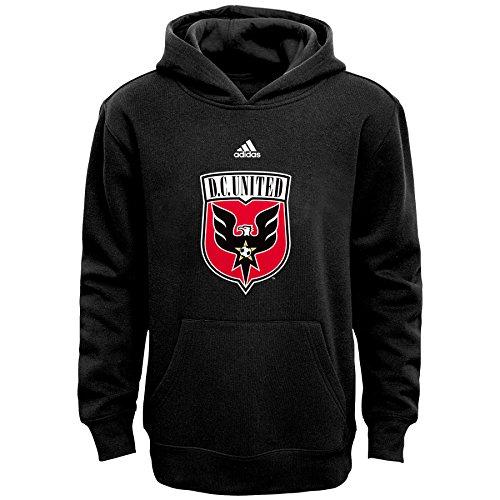 - MLS D.C. United Boys 8-20 Primary Logo Fleece Hoodie, Black, Large