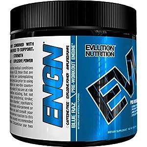 Evlution Nutrition EVL ENGN Pre workout Powder, Pikatropin Free, Caffeine Free
