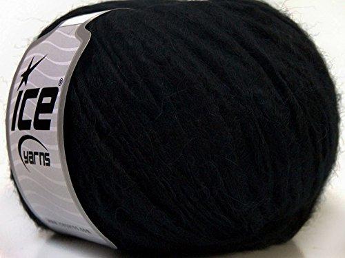 Peru Alpaca Bulky - Black #33730 Merino Wool Alpaca Acrylic Blend Yarn 50gr (Peru Wool Yarn Alpaca)