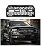 For 2015-2017 Ford F-150 Grille Raptor Style Matte Black XLT LARIAT PLATINUM (WITH letters F & R)