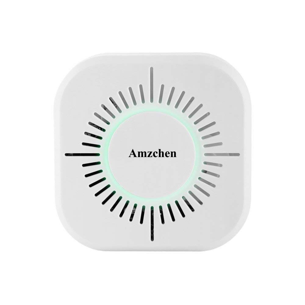 Smoke Detector,Amzchen Wireless Interconnected Smoke Detector Independent Fire Alarm Sensor 360 Degrees Indoor Home Safety Garden Security Smoke Alarm with Smoke Detector Battery