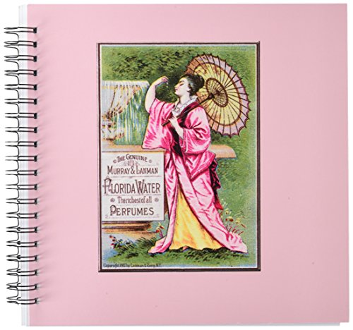 3dRose db_153657_2 The Genuine Murray and Lanman Florida Water Perfumes Asian Woman with Parasol Memory Book, 12 by 12-Inch