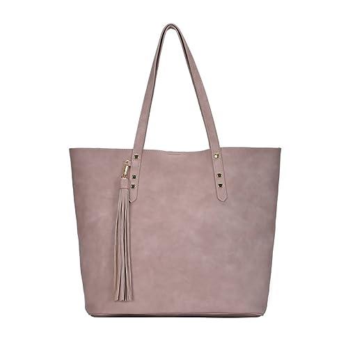drop shipping suitable for men/women official store Miztique Everleigh Tote Handbag: Mauve BGT-48539 Mauve ...