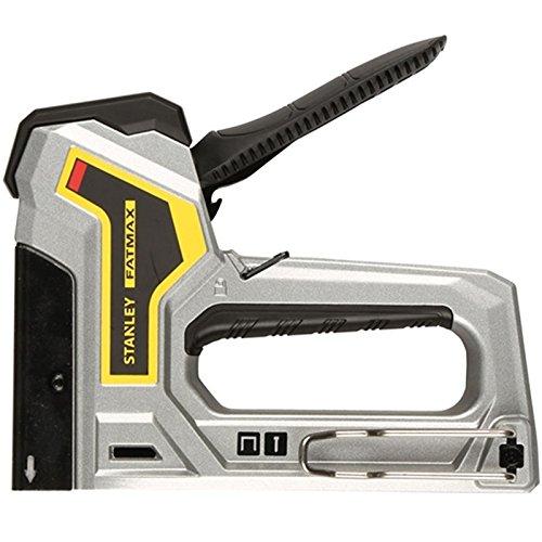 Stanley FatMax Handtacker / Nagler (AntiJam, Klemmschutz, fü r Typ G 6 mm-14 mm und Stifte/Nä gel Typ 18J 12 mm-15 mm) 6-TR350 BLAMT