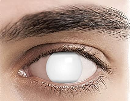 Phantasy Eyes ®Lentilles de Contact de couleur - Halloween Crazy Lens (BLIND  WHITE) 759992b27deb