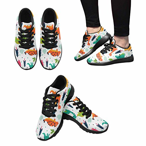 Interestprint Womens Jogging Running Sneaker Leggero Go Easy Walking Comfort Sportivo Scarpe Da Ginnastica Adorabili Dinosauri Divertenti In Cartoon Multi 1