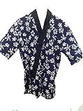 Blue Hawaiian Printed Sushi Chef Uniform (Large)