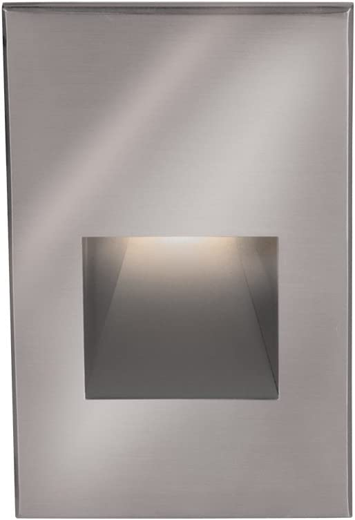 WAC Lighting WL-LED200-C-BK LED 3.9W 120V Step and Wall Light with Black Finish and Clear Lens