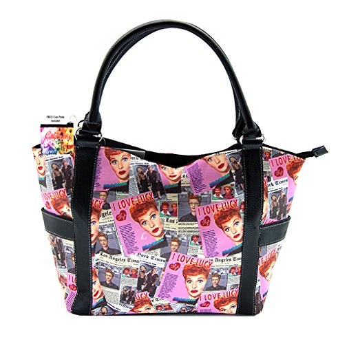 I Love Lucy Pink Collage Large Purse, Plus Coin Purse for sale  Delivered anywhere in USA