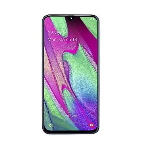 Samsung Galaxy A40 Display 5.9″, 64 GB Espandibili, RAM 4 GB, Batteria 3100 mAh, 4G, Dual SIM Smartphone, Android 9 Pie, (2019) [Versione Italiana], White