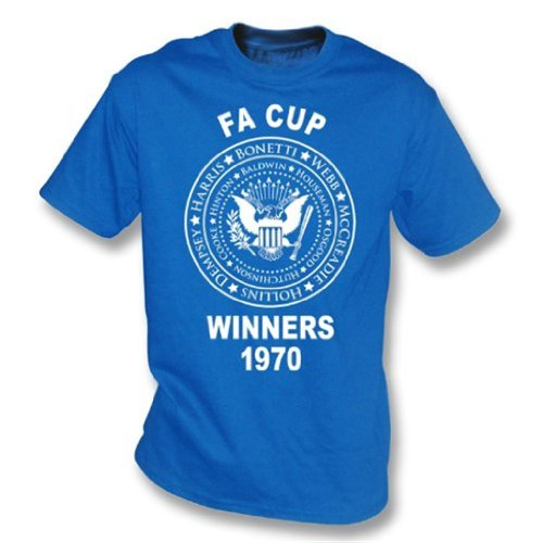 Chelsea 1970 Fa Cup - Punk Football Chelsea FA Cup Winners 1970 T-shirt - Girls Slimfit X-Large Royal Blue