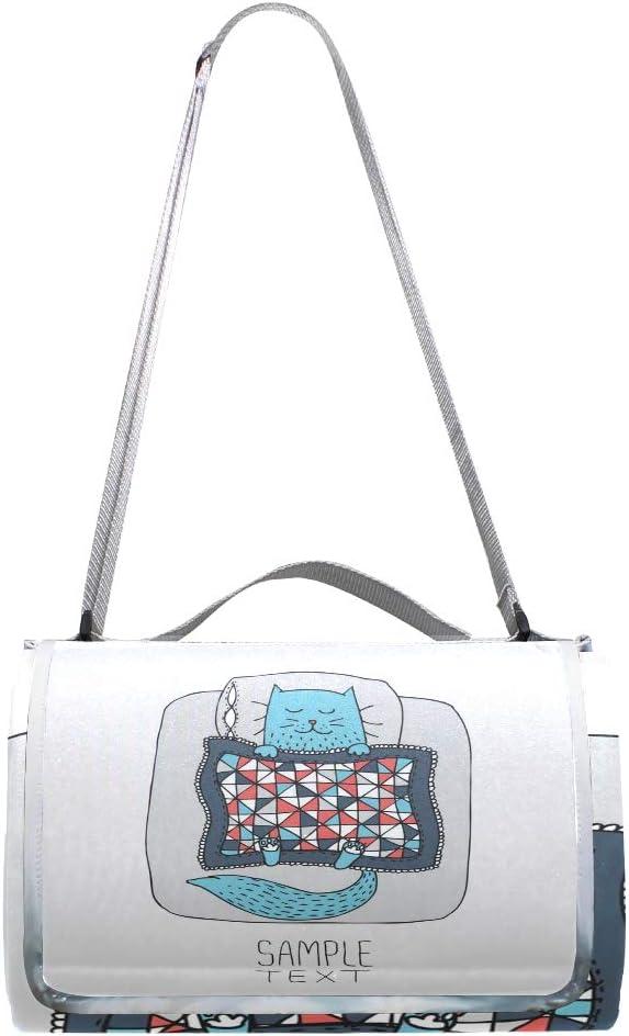 GEEVOSUN Coperta da Picnic Tappetino Campeggio,Bella Disegnata a Mano Shopping Invernale Carino,Giardino Spiaggia Impermeabile Anti Sabbia 15