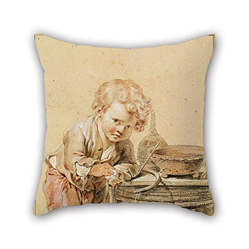Jean Baptiste Greuze Paintings - Slimmingpiggy 16 X 16 Inches / 40 By 40 Cm Oil Painting Jean-Baptiste Greuze - Boy With A Broken Egg, C. 1756 Throw Cushion Covers ,2 Sides Ornament And Gift To Living Room,gf,play Room,bf,family,da