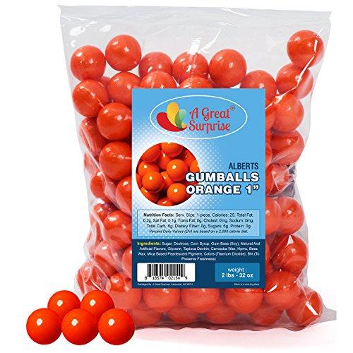 Gumballs in Bulk - Orange Gumballs for Candy Buffet - Shimmer Gumballs 1 Inch - Bulk Candy 2 - Malls Orange In