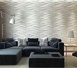 tv room design Art3d Decorative 3D Wall Panels Wave Board Design for TV Walls/Bedroom/Living Room Sofa Background, Pack of 6 Tiles 32 Sq Ft (Plant Fiber)