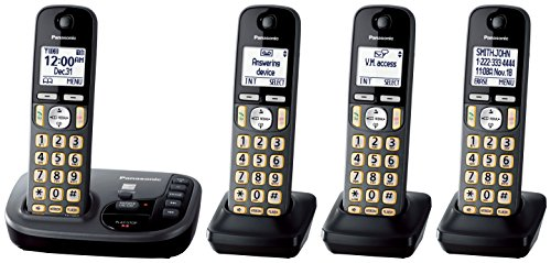 Panasonic KX-TGD224M Cordless Phone with Answering Machine- 4 Handsets