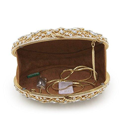 Luxury Women Party Bag Ladies Bags Shape Femal Maollmm Evening Stones Oval Crystal SgaCRWC