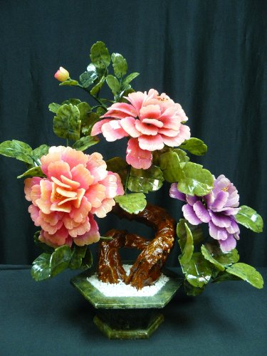 Mixed Jade Bonsai Flowers 201-3a by CFC