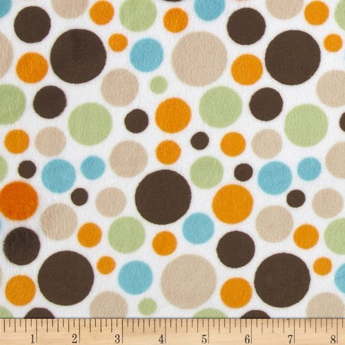 Minky Cuddle Classic Bubble Dot Brown Fabric by Shannon