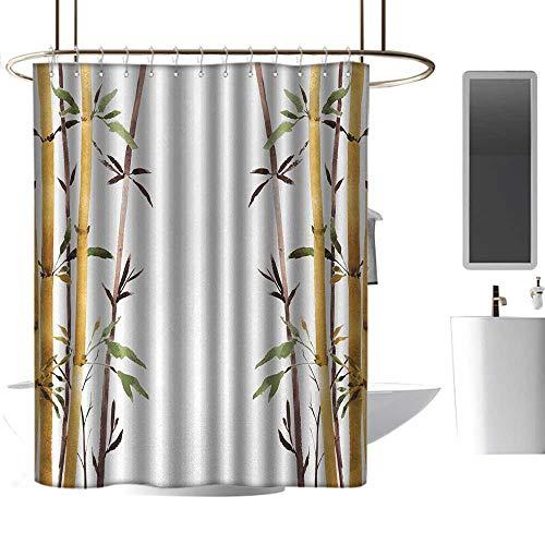 Shower Curtains for Bathroom Orange Bamboo,Bamboo Grove Calm
