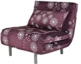 Cortesi Home CH-LC103600 Savion Convertible Accent Chair Bed, Purple