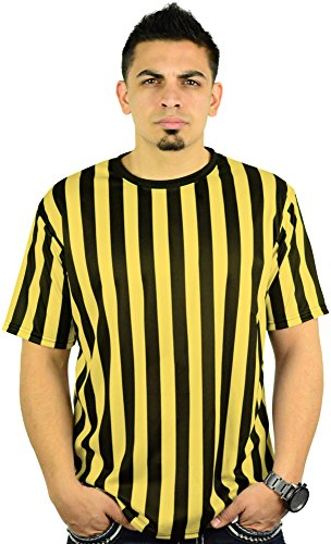Bar Yellow T-shirt - Mens Referee Shirts|Comfortable, Lightweight Ref Shirt for Officials, Bars, More