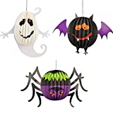 Oxfox Halloween Paper Lantern Ghost Bat Spider Decoration Christmas Party Room Gardan Large