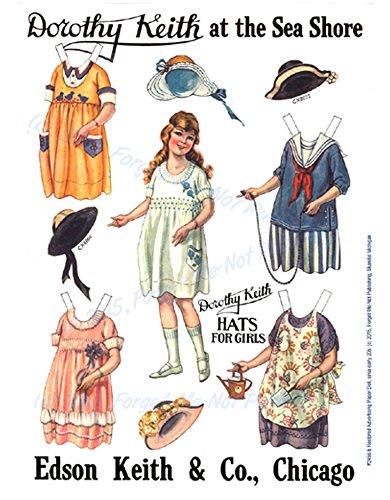 Fmn-2456- PAIR of 1920s Edson Advertising Paper Dolls