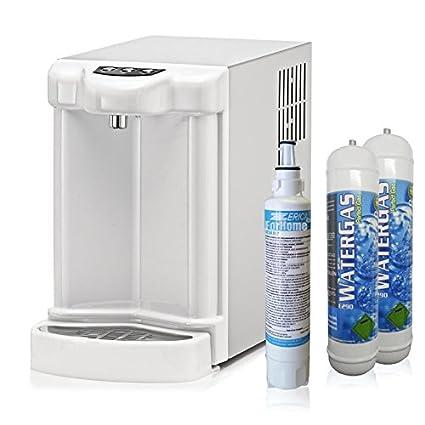 Purificador agua dispensador fría gasata ambiente enfriador carbonatador con 2 x 600gr CO2
