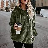 DaySeventh Sweatshirt for Womens, Women Hooded Sweatshirt Coat Winter Warm Wool Zipper Pockets Cotton Coat Outwear