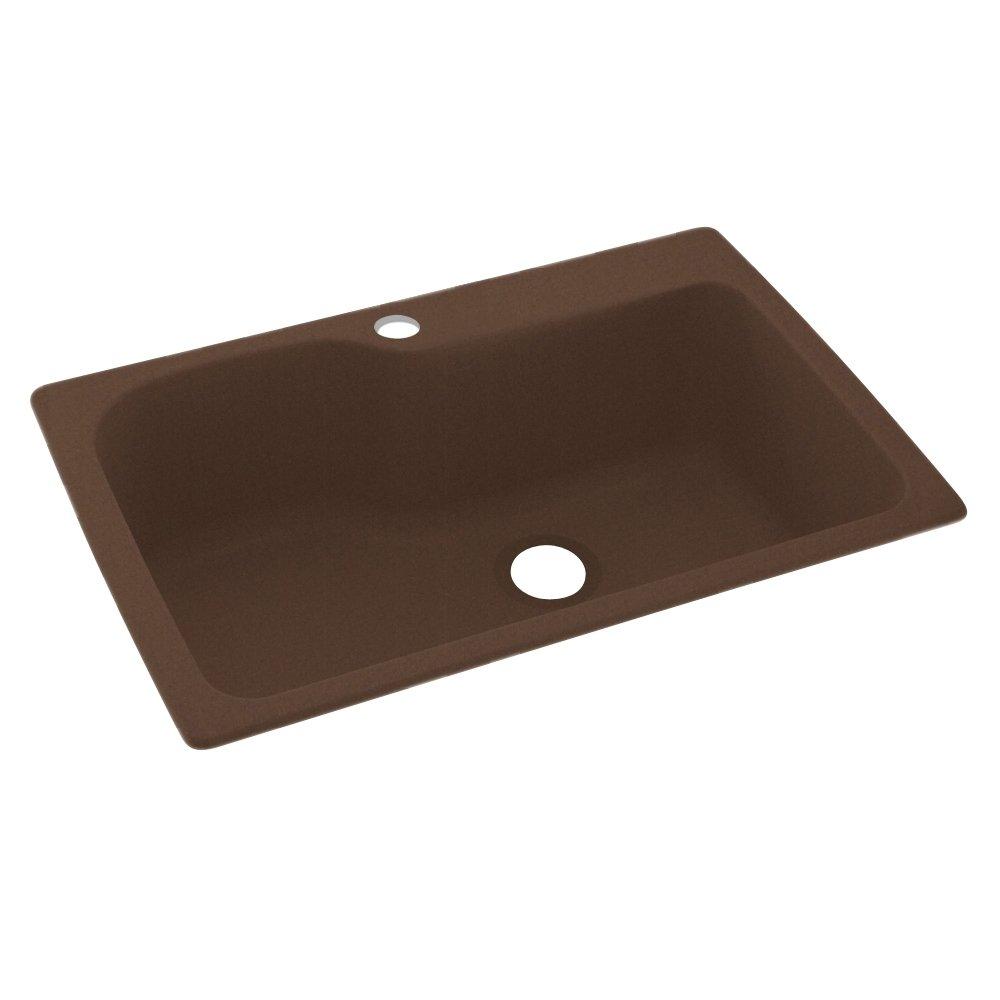 Swan Granite Kitchen Sink Swanstone Ks03322sb123 1 Hole Solid Surface Kitchen Sink 33 X