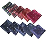 10PCS Pocket Square for Men Fashion Cartoon Handkerchief Set For Wedding Party