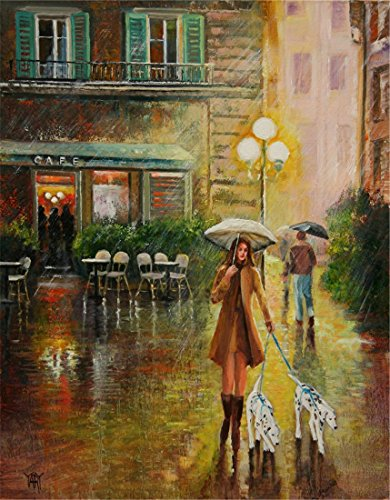 an-evening-rain-outside-by-the-cafe-walking-the-dogs-in-the-rain-by-internationally-renown-painter-y